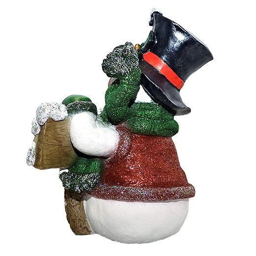 """Новогодняя фигура ДомФигурок Снеговик в шляпе с табличкой """"Веселих свят!"""" - 2"""