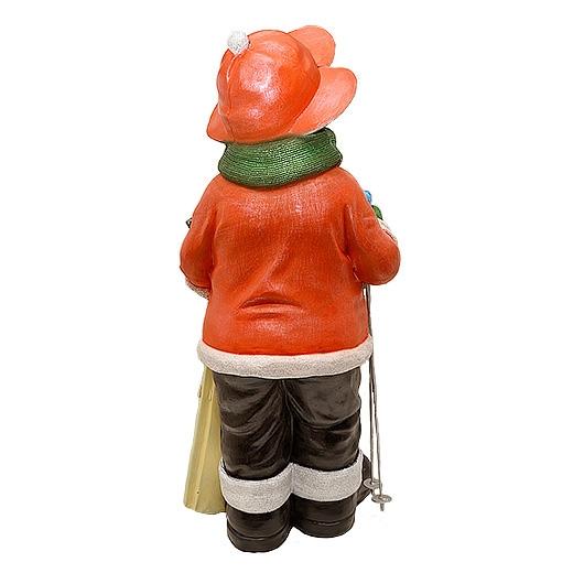 """ДомФигурок Снеговик лыжник с табличкой """"Веселих свят!"""" - 3"""