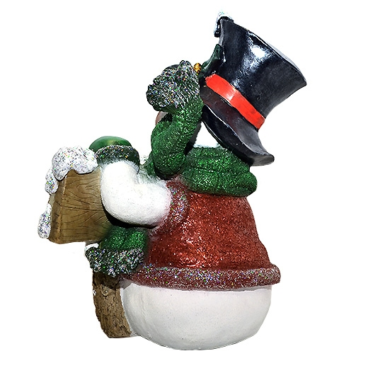 ДомФигурок Снеговик в шляпе с колокольчиком 45х37х30 см - 2