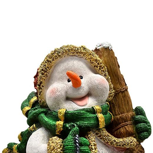 "ДомФигурок Снеговик с веником ""Веселих свят!"" 41х30х28 см - 2"