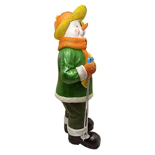 "ДомФигурок Снеговик лыжник с табличкой ""Желаю удачи!"" 01348ж - 3"