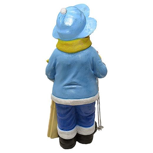 """ДомФигурок Снеговик лыжник с табличкой """"Да будет снег!"""" 01348 70 см - 3"""
