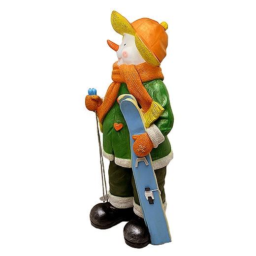 """ДомФигурок Снеговик лыжник с табличкой """"Веселих свят!"""" 70х32х25 см - 3"""