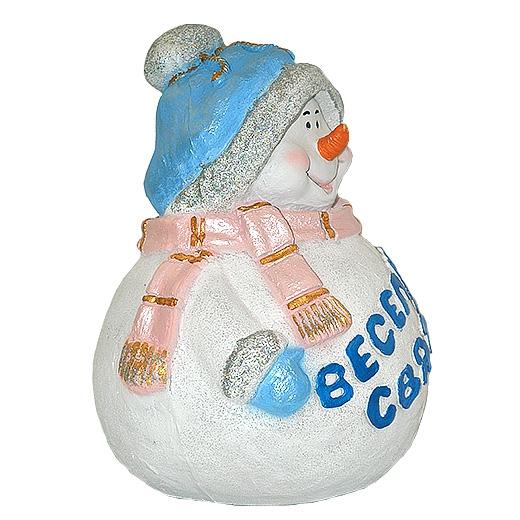 """ДомФигурок Снеговик """"Веселих свят!"""" 31х23х23 см - 1"""