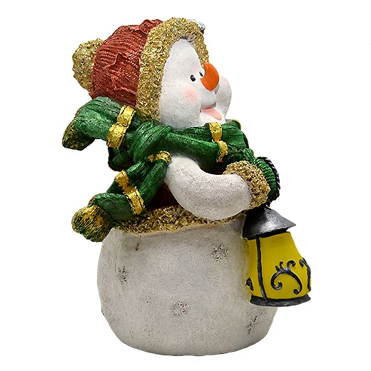 "ДомФигурок Снеговик с веником ""Веселих свят!"" 41х30х28 см - 5"