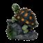 Садовая фигура ДомФигурок Черепашка на камне - 1